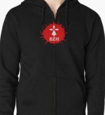 bzh breizh bretagne breton hermine Zipped Hoodie