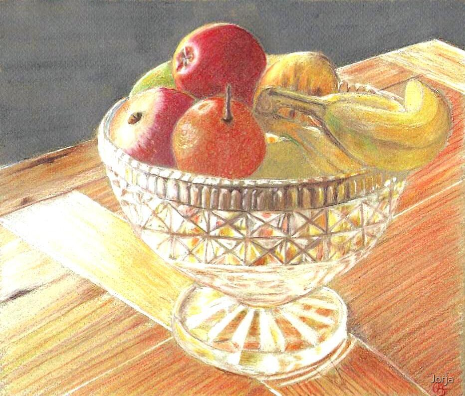 Christmas Fruit Bowl by Jorja