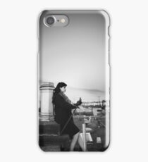 Thoughts - Lonely girl on a roof thinking thoughts iPhone Case/Skin