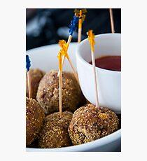 Kangaroo Meatballs Photographic Print