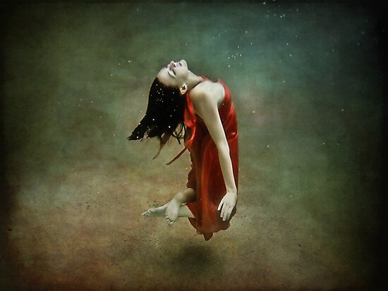 Red Dress Mermaid 1 by Annette Blattman