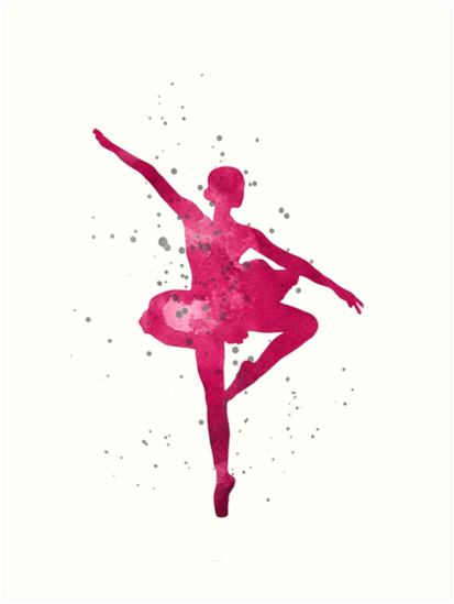 63be73324 Ballerina silhouette watercolor painting