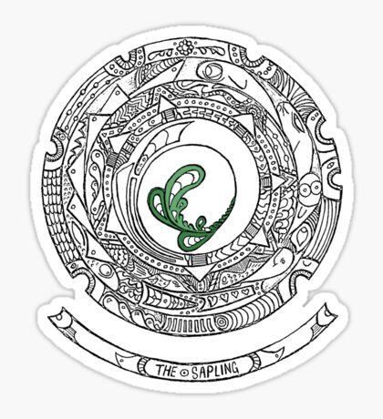 the Sapling Mandala Sticker