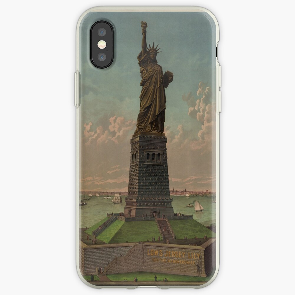 Statue of Liberty Artwork Funda y vinilo para iPhone