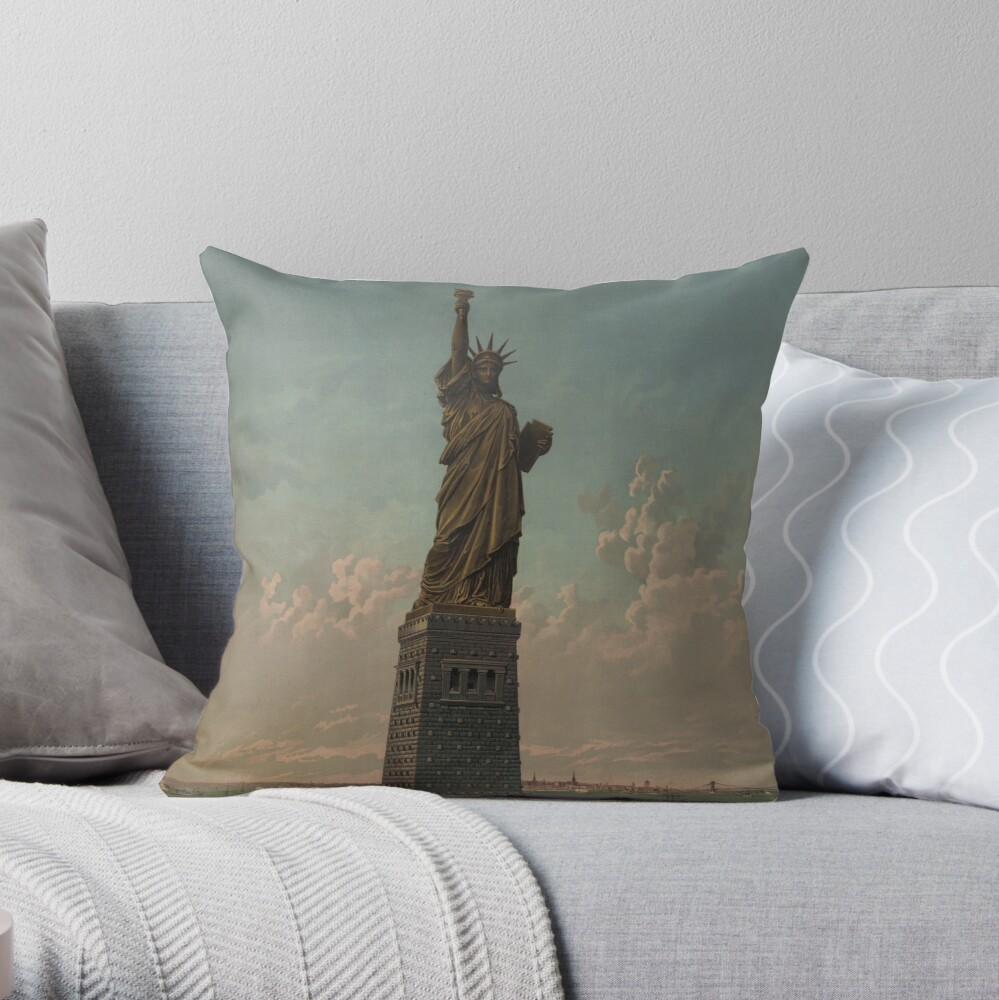 Statue of Liberty Artwork Cojín