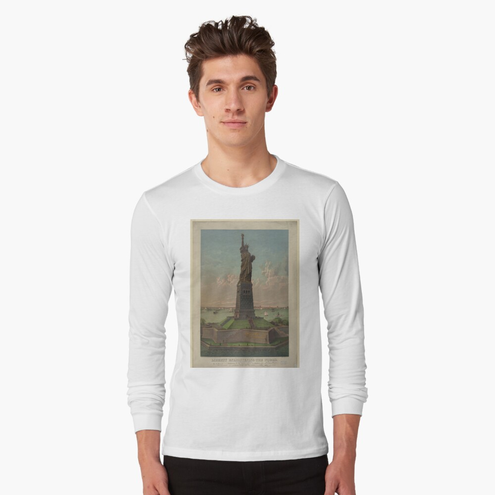Statue of Liberty Artwork Camiseta de manga larga