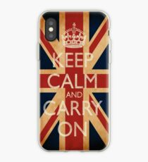 Keep Calm And Carry On. iPhone Case