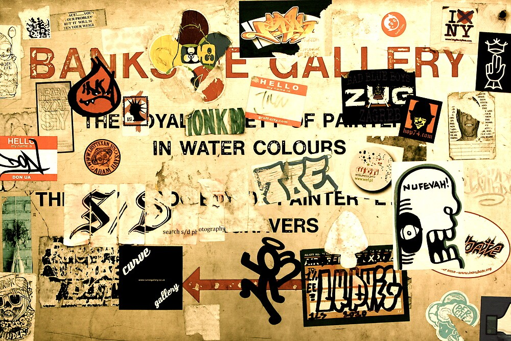 An English Sign Covered in Graffiti by idenationarts