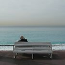 Man on Bench (Nice, France) by Ross Jukes