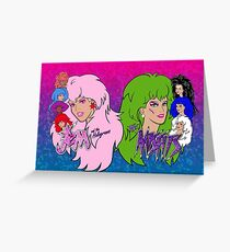 Jem and the Holograms Vs The Misfits Greeting Card