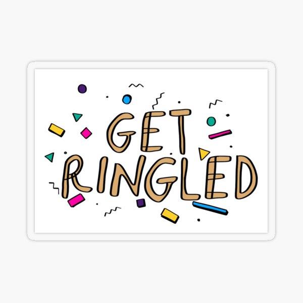 get ringled rectangle Transparent Sticker