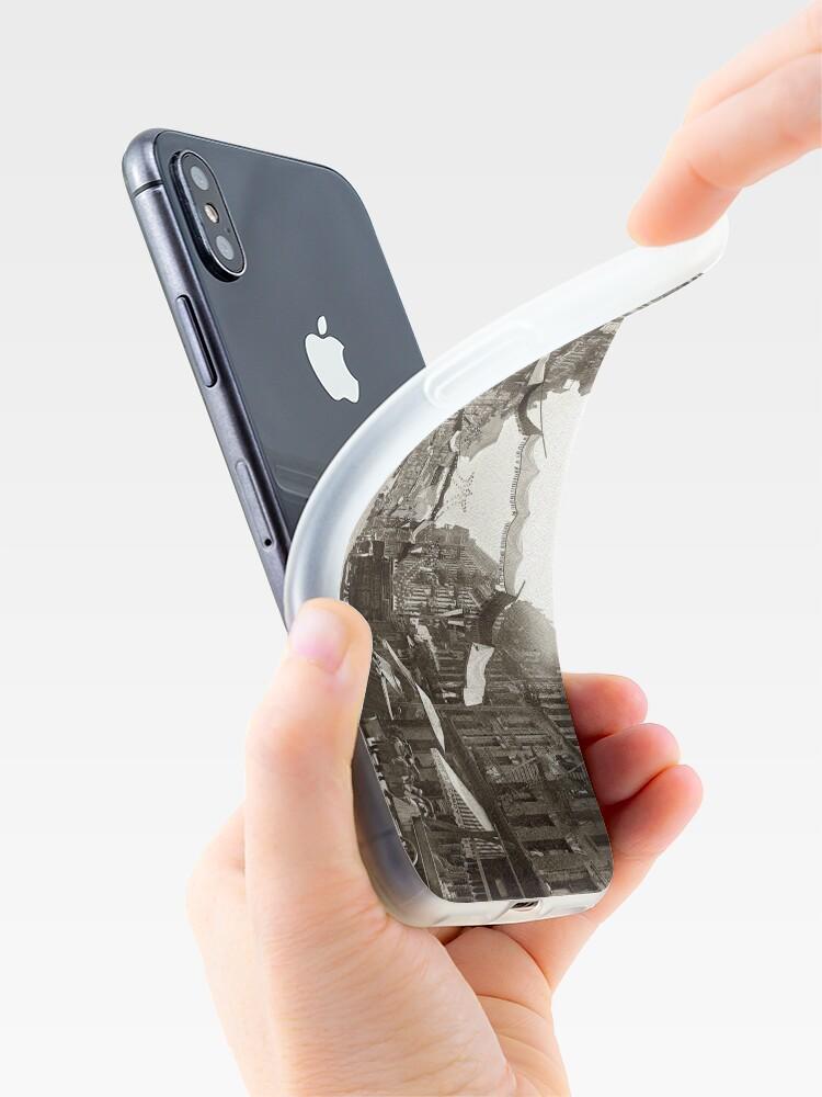 Vista alternativa de Funda y vinilo para iPhone Little Italy Mott Street NYC Photograph (1908)