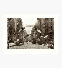 Lámina artística Little Italy Mott Street NYC Photograph (1908)