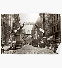 Póster Little Italy Mott Street NYC Photograph (1908)