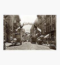 Lámina fotográfica Little Italy Mott Street NYC Photograph (1908)