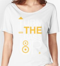 TURN THE BASS UP - Crossfader & Speaker DJ Women's Relaxed Fit T-Shirt