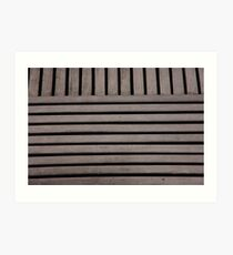 Decking Patterns Art Print