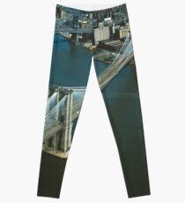 Legging Brooklyn Bridge Aerial Photograph