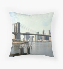 Cojín Brooklyn Bridge and Manhattan Photograph