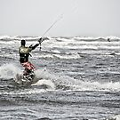 North Sea kitesurfing by Ulla Jensen