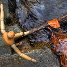 Wooden Man Crossing the River 01 by cadman101
