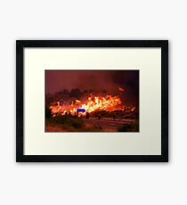 Burning Out from the Bee Line Framed Print