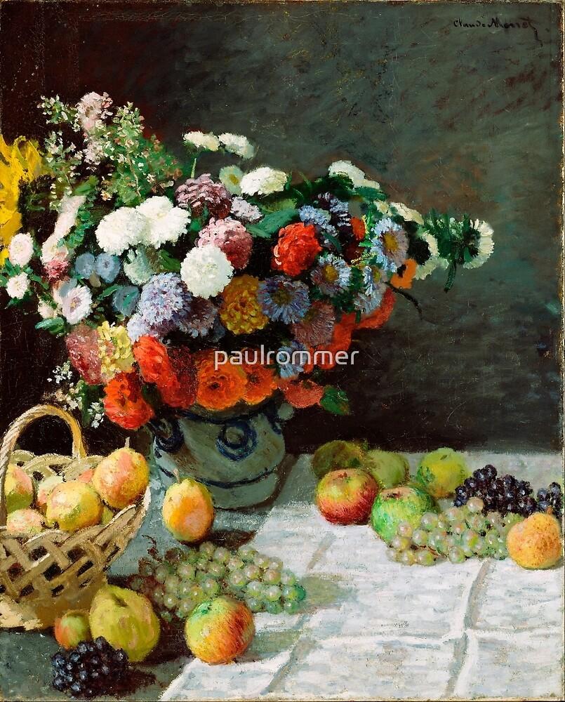 Stillleben mit Blumen und Früchten * Claude Monet - 1869 von paulrommer