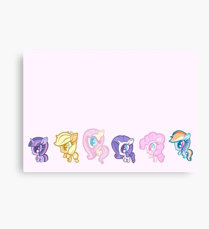 Weeny My Little Pony- Mane Six Canvas Print
