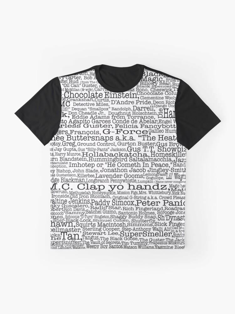 Vista alternativa de Camiseta gráfica Poster del programa de televisión Psych, apodos, Burton Guster