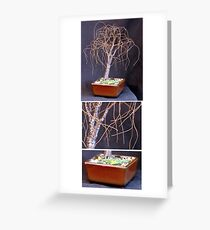 SMALL BONSAI ELM - Wire Tree Sculpture Greeting Card