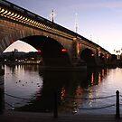 Christmas Time at London Bridge...Lake Havasu, AZ. by Lorin Richter