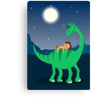 Arlo the good dinosaur night Canvas Print
