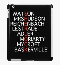 Sherlock - Acrostic Design iPad Case/Skin