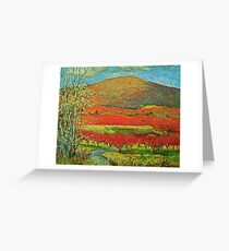 Apple orchards in january Greeting Card