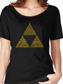 Legend of Zelda Typography Women's Relaxed Fit T-Shirt