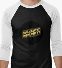 Hollywood Babble-On: Diplomatic Immunity! Men's Baseball ¾ T-Shirt