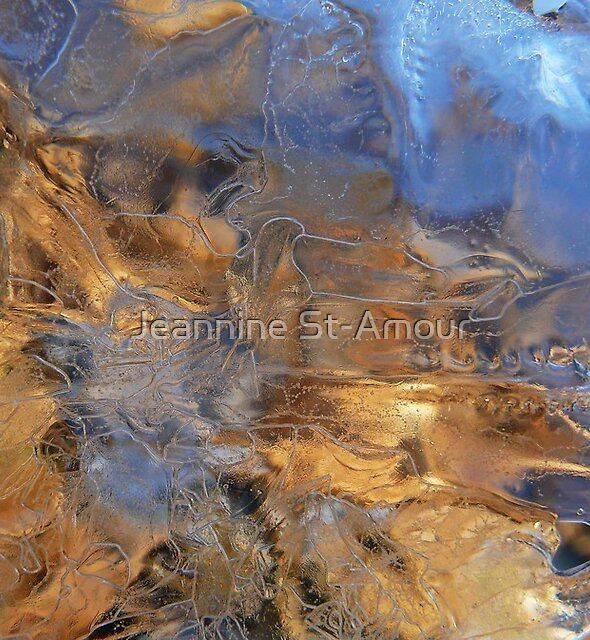 Ice abstract by Jeannine St-Amour