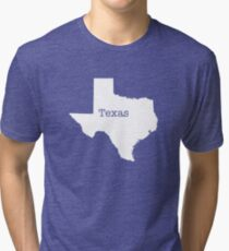 Texas State outline Tri-blend T-Shirt