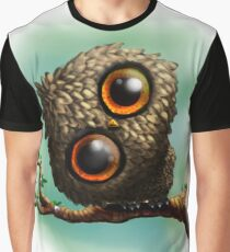 Cute Owl on Branch Graphic T-Shirt