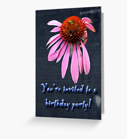 Birthday Party Invitation - Coneflower Greeting Card