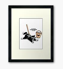 Cat Broom Mop | Geek Retro Gamer Framed Print