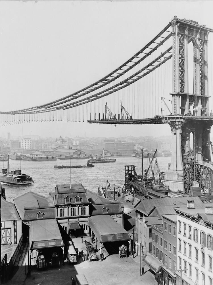 Construction of The Manhattan Bridge (1909) de BravuraMedia