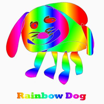 Rainbow Dog by RobynHood