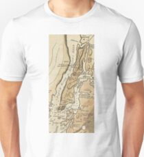 Camiseta ajustada Vintage Manhattan Map (1781)