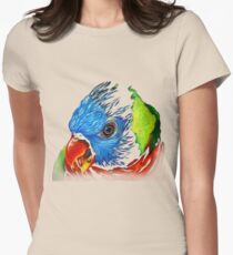 Rainbow Lorikeet Shirt Womens Fitted T-Shirt