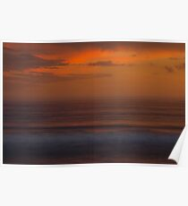 Fire sunset on Angelsea Beach  Poster