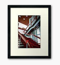 Mahogany Staircase Framed Print