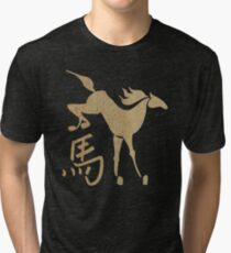 Year of The Wood Horse 2014 & 1954 Tri-blend T-Shirt