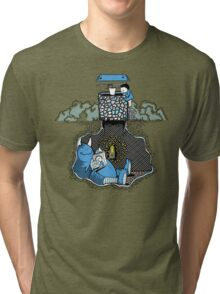Nightlights and Oven Mitts   Cute Monster Illustration Tri-blend T-Shirt
