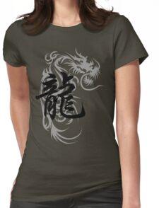 Chinese Zodiac Dragon Symbol Womens Fitted T-Shirt